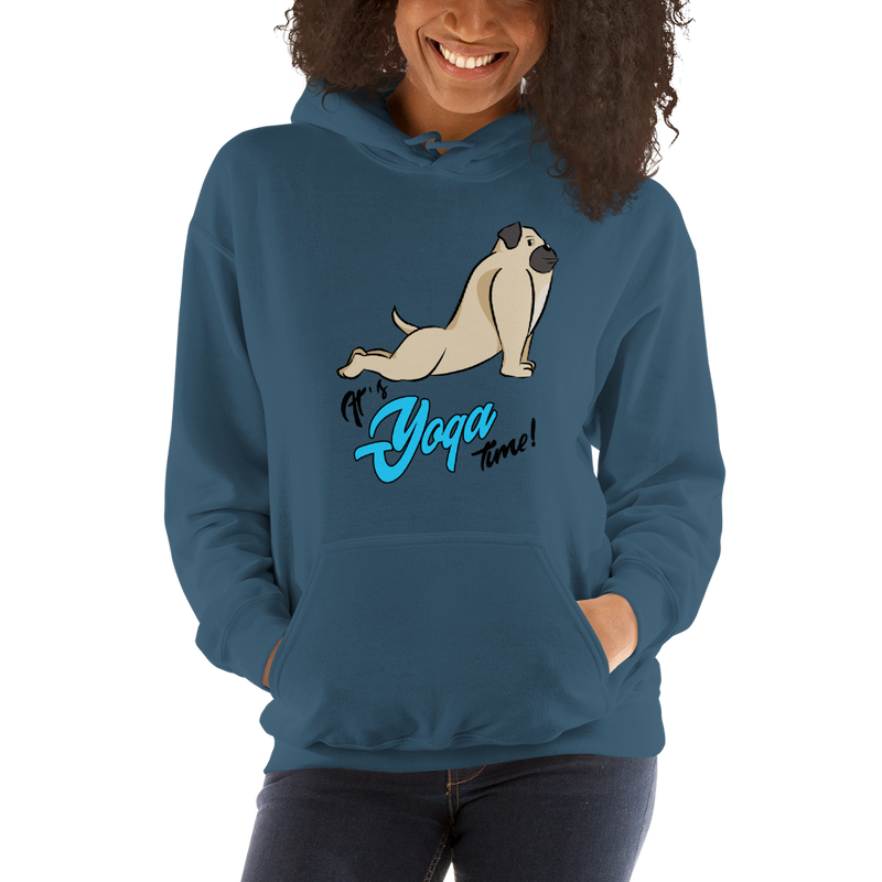 It's Yoga Time005 Gildan 18500 Unisex Heavy Blend Hooded Sweatshirt Heavy blend