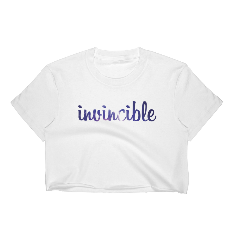 Invincible006 Los Angeles Apparel 2332 Fine Jersey Short Sleeve Cropped T-Shirt w/ Tear Away Label
