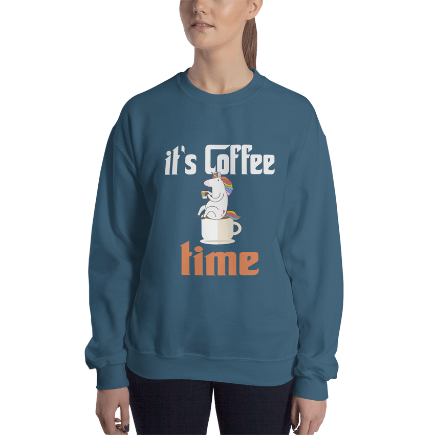 Its Coffee Time007 Gildan 18000 Unisex Heavy Blend Crewneck Sweatshirt