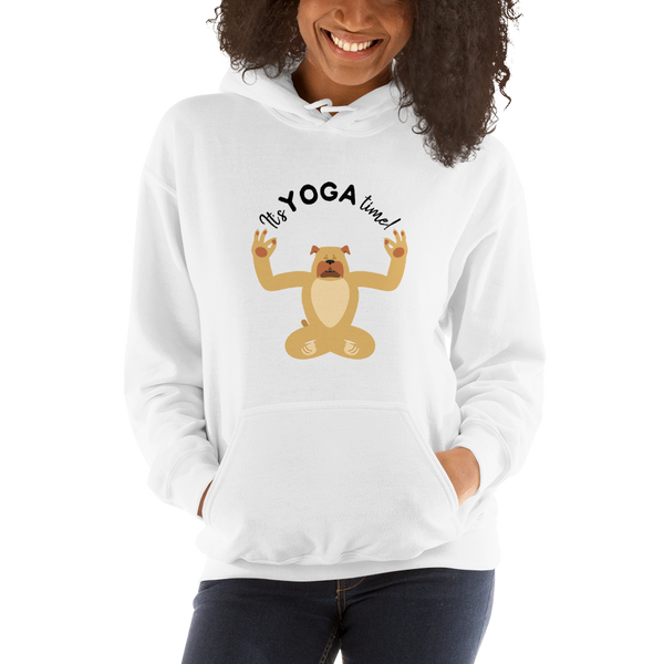 It's Yoga Time053 Gildan 18500 Unisex Heavy Blend Hooded Sweatshirt Heavy blend