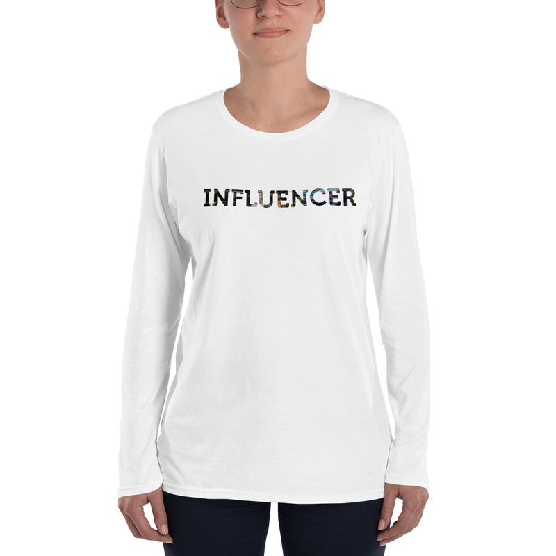 Influencer008 Anvil 884L Women's Lightweight Long Sleeve Tee with Tear Away Label
