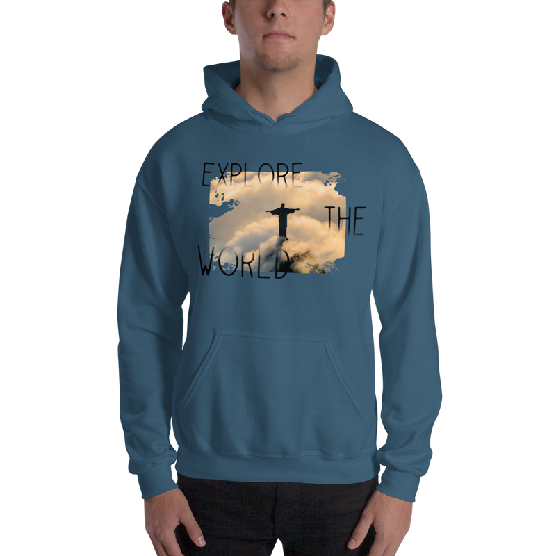 Explore The World0011 Hoodiee Gildan 18500 Unisex Heavy Blend Hooded Sweatshirt