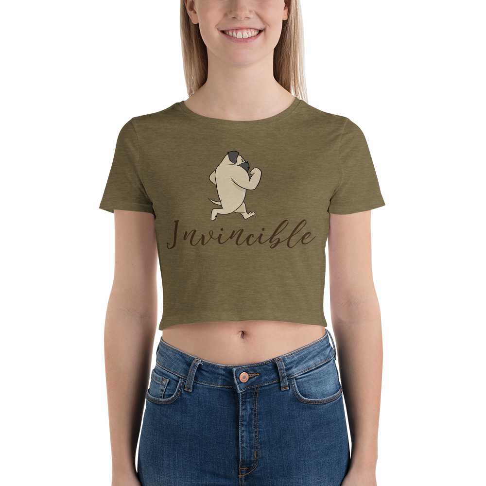 Invincible010 Bella + Canvas 6681 Women's Crop Tee Tight fit