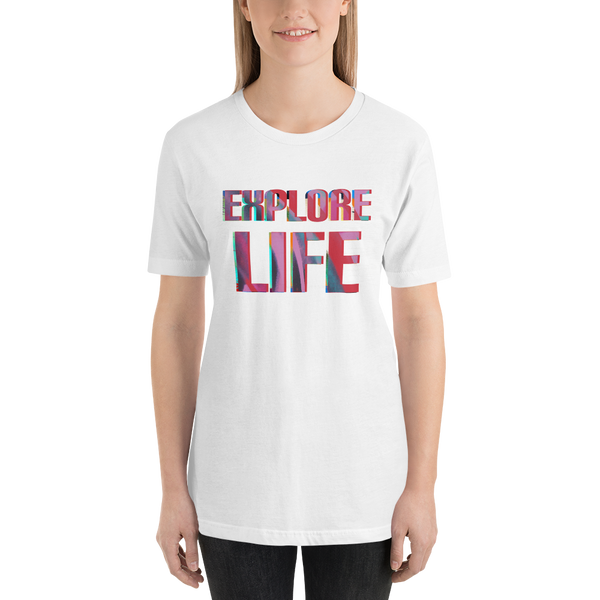 Explore Life003 Bella + Canvas 3001 Unisex Short Sleeve Jersey T-Shirt with Tear Away Label