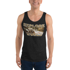 Explore The World008 Bella + Canvas 3480 Unisex Jersey Tank with Tear Away Label