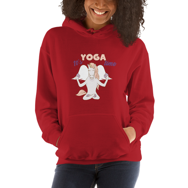It's Yoga Time052 Gildan 18500 Unisex Heavy Blend Hooded Sweatshirt Heavy blend