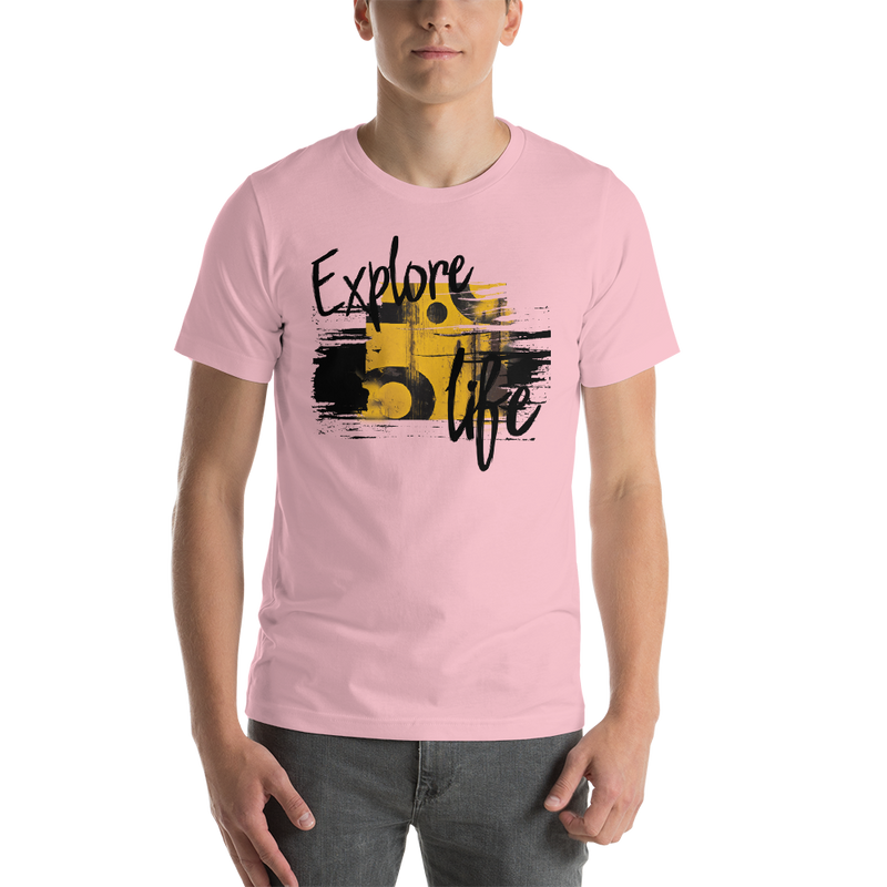 Explore Life004 Bella + Canvas 3001 Unisex Short Sleeve Jersey T-Shirt with Tear Away Label