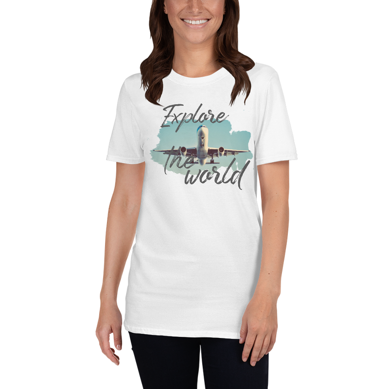 Explore The World001 Gildan 64000 Unisex Softstyle T-Shirt with Tear Away Label