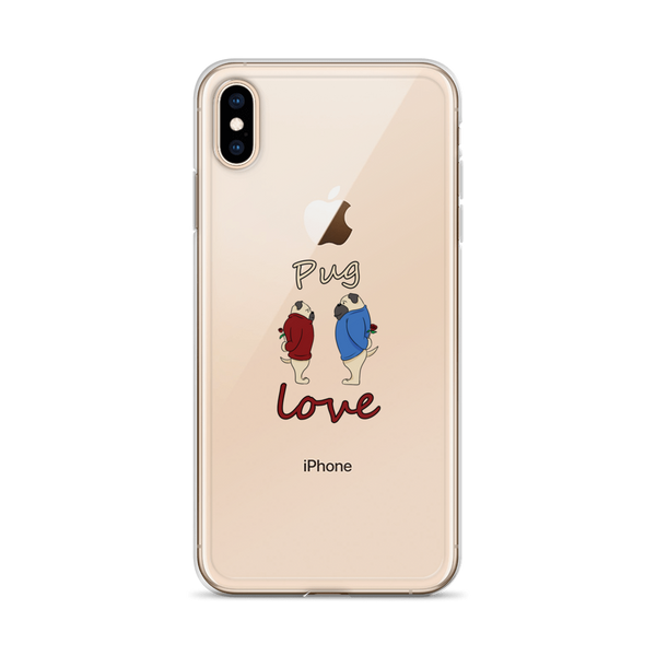 Pug love08 iPhone Case