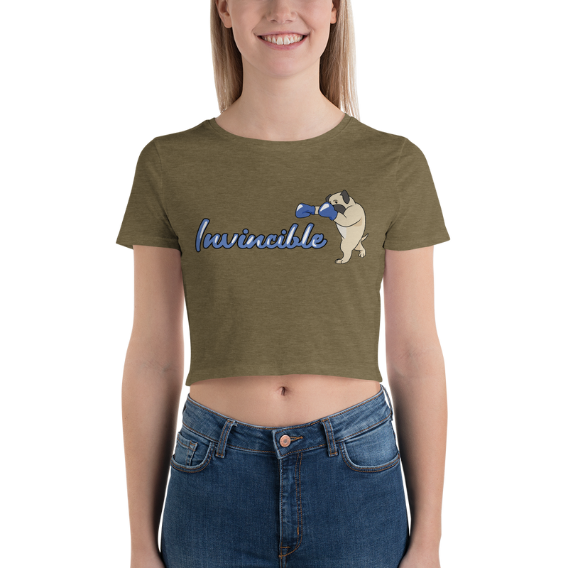 Invincible004 Bella + Canvas 6681 Women's Crop Tee Tight fit