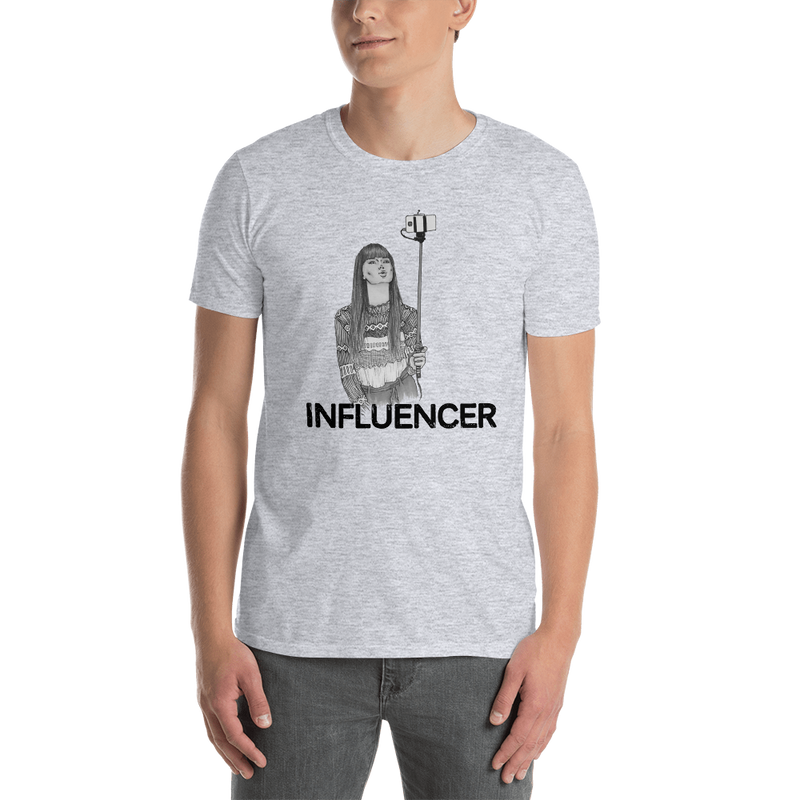 Influencer0090 Gildan 64000 Unisex Softstyle T-Shirt with Tear Away Label