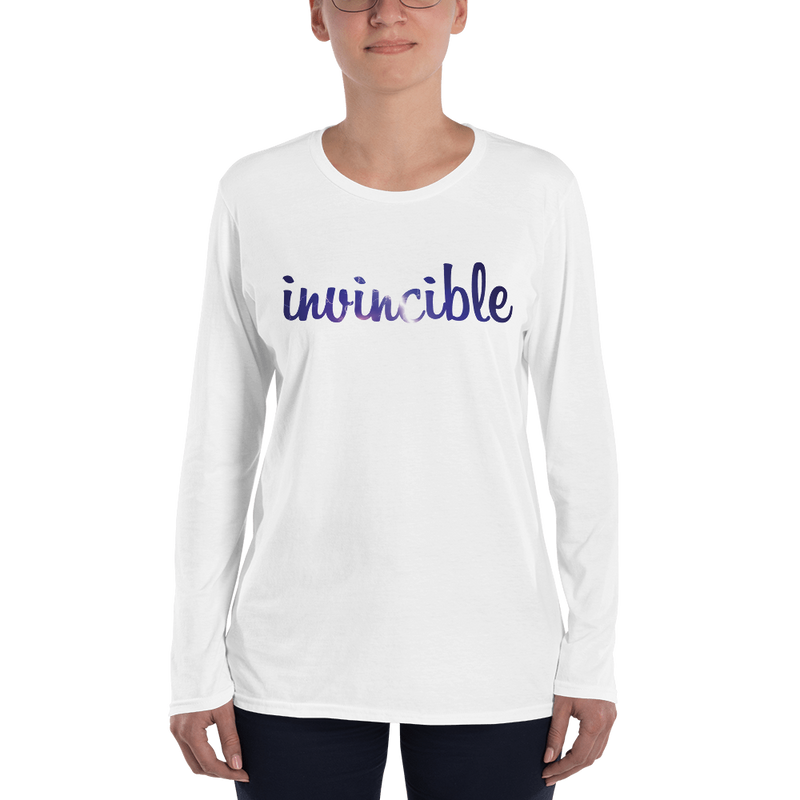 Invincible006 Anvil 884L Women's Lightweight Long Sleeve Tee with Tear Away Label