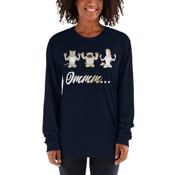It's Yoga Time035 American Apparel 2007 Unisex Fine Jersey Long Sleeve T-Shirt Comfy style
