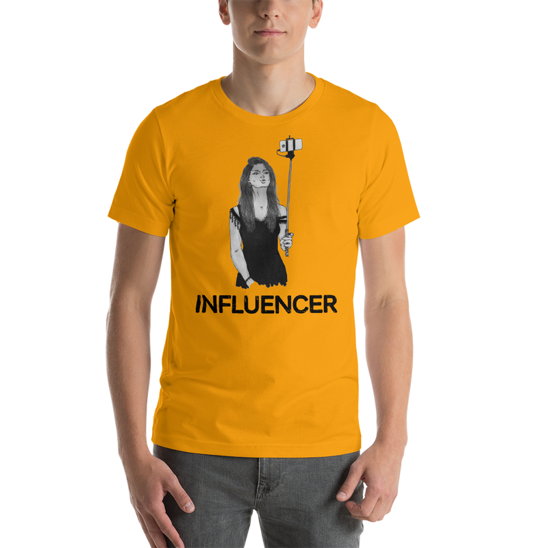 Influencer0011 Bella + Canvas 3001 Unisex Short Sleeve Jersey T-Shirt with Tear Away Label