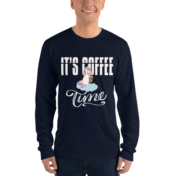 Its Coffee Time06 American Apparel 2007 Unisex Fine Jersey Long Sleeve T-Shirt Comfy style