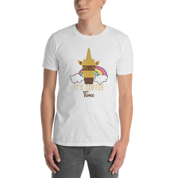 It's coffee time035 Gildan 64000 Unisex Softstyle T-Shirt with Tear Away Label