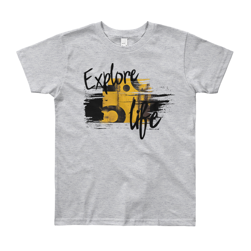 Explore Life004 American Apparel 2201W Youth Fine Jersey Short Sleeve T-Shirt