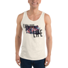 Explore Life002 Bella + Canvas 3480 Unisex Jersey Tank with Tear Away Label