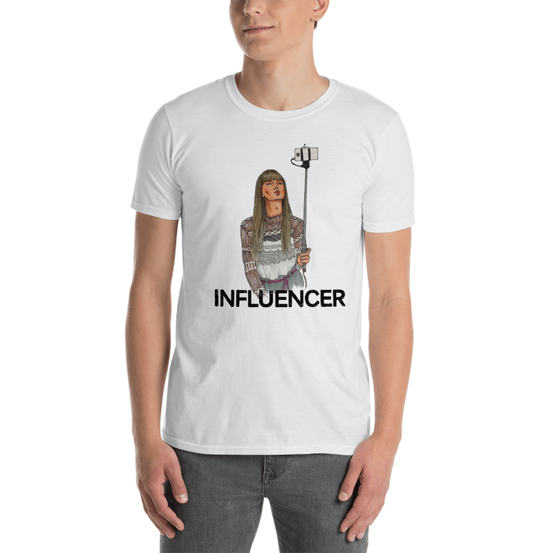 Influencer0038 Gildan 64000 Unisex Softstyle T-Shirt with Tear Away Label