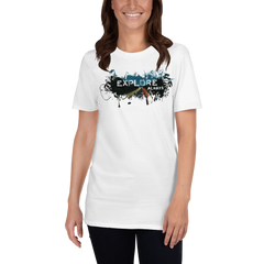 Explore The World007 Gildan 64000 Unisex Softstyle T-Shirt with Tear Away Label