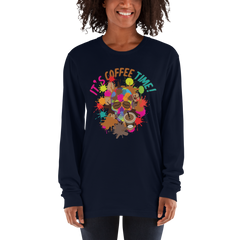 Its Coffee Time008 Anvil 884L Women's Lightweight Long Sleeve Tee Soft style
