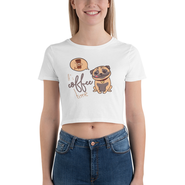 Its Coffee Time038 Women's Crop Tee