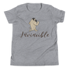 Invincible010 Bella + Canvas 3001Y Youth Short Sleeve Tee with Tear Away Label