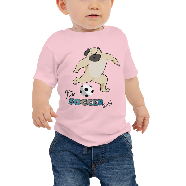 it's soccer time01 Baby Jersey Short Sleeve Tee