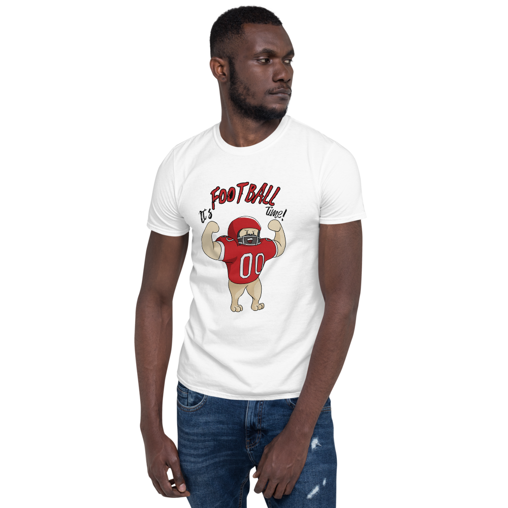 It's Football Time23 Gildan 64000 unisex softstyle Softsyle