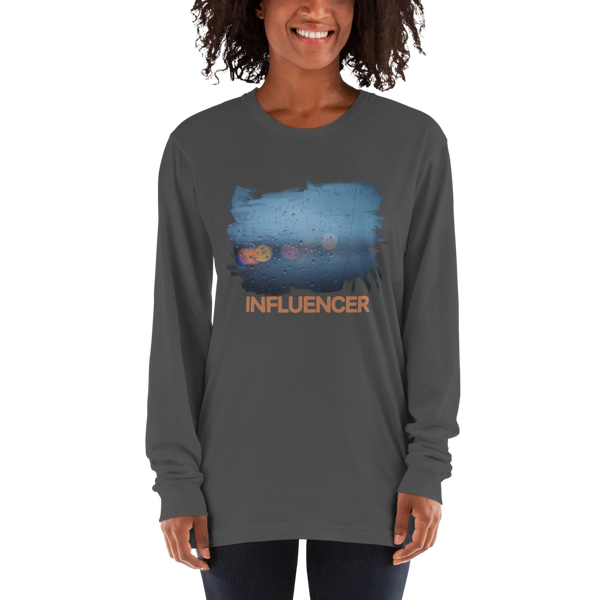 Influencer72 American Apparel 2007 Unisex Fine Jersey Long Sleeve T-Shirt Comfy style