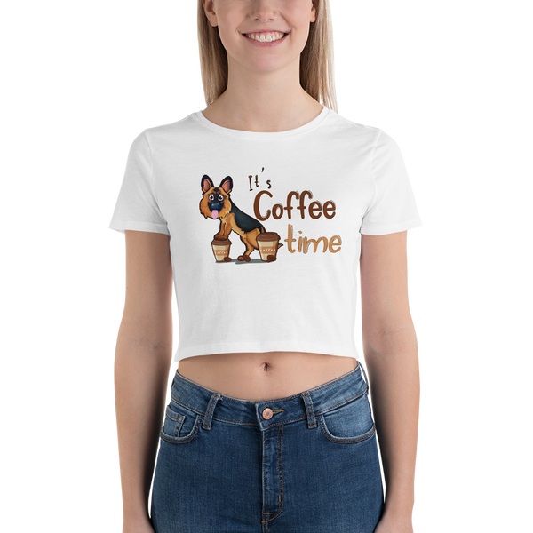 Its Coffee Time041 Women's Crop Tee