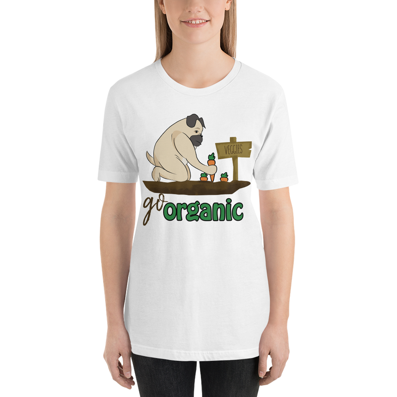 Go Organic003 Bella + Canvas 3001 Unisex Short Sleeve Jersey T-Shirt with Tear Away Label