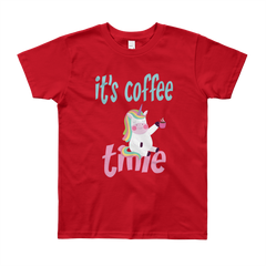 Its Coffee Time27 Youth Short Sleeve T-Shirt
