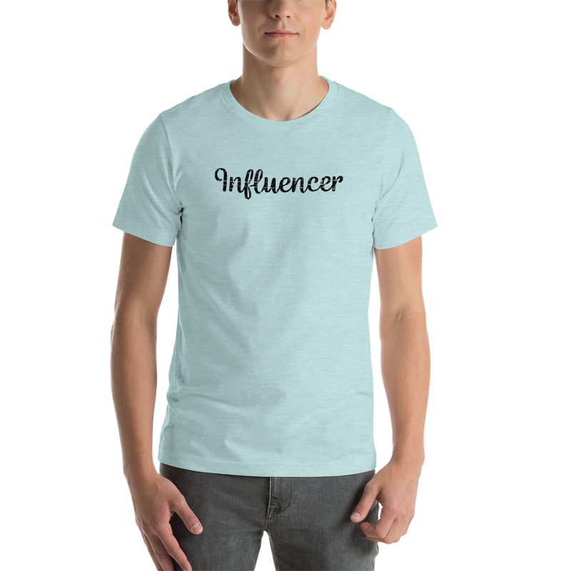Influencer00178 Bella + Canvas 3001 Unisex Short Sleeve Jersey T-Shirt with Tear Away Label