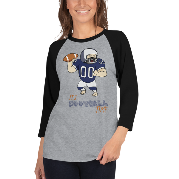 It's Football Time07 Tultex 245 Unisex Fine Jersey Raglan Tee w/ Tear Away Label
