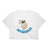 Invincible014 Los Angeles Apparel 2332 Fine Jersey Short Sleeve Cropped T-Shirt w/ Tear Away Label