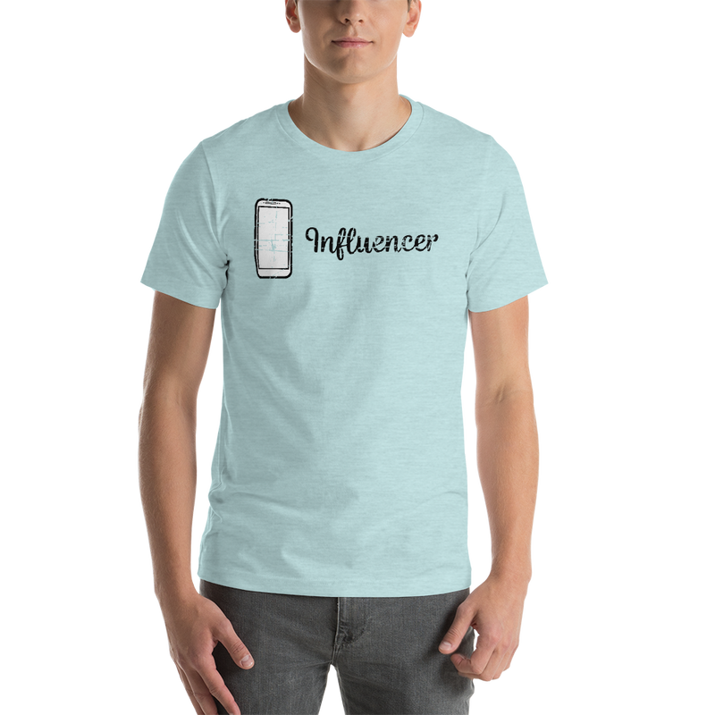 Influencer00162 Bella + Canvas 3001 Unisex Short Sleeve Jersey T-Shirt with Tear Away Label