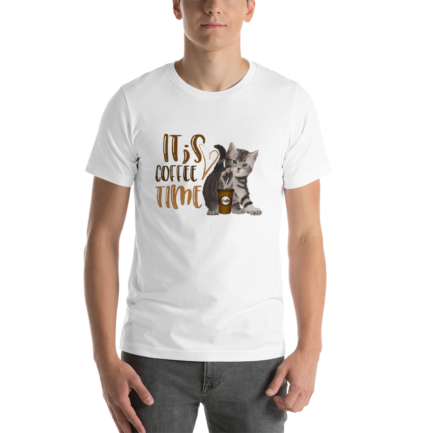 It's Coffee Time035 Bella + canvas 3001 unisex  Jersey Style