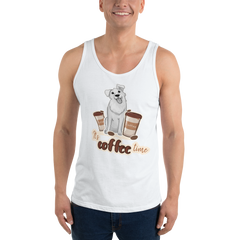 It's Coffee Time046 Bella + Canvas 3480 Unisex Jersey Tank with Tear Away Label
