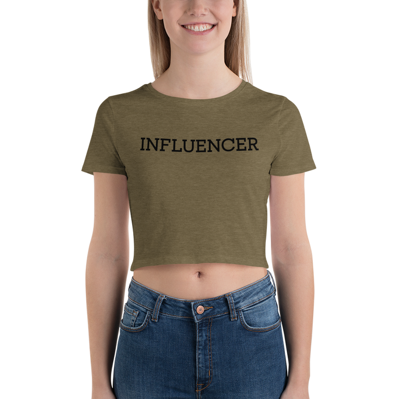 Influencer004 Bella + Canvas 6681 Women's Crop Tee with Tear Away Label