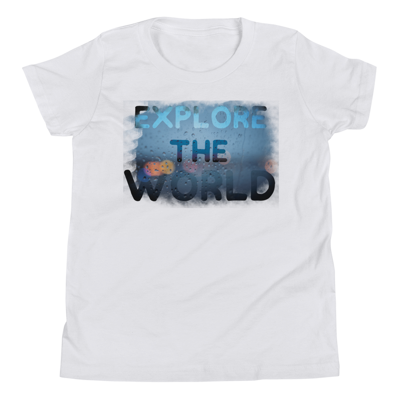 Explore The World0028 Bella + Canvas 3001Y Youth Short Sleeve Tee with Tear Away Label