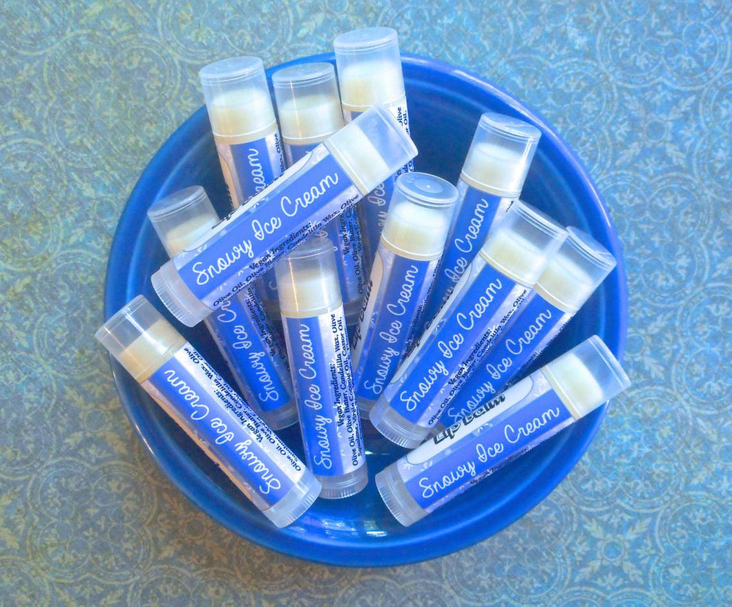 Snowy Ice Cream Epic Vegan Lip Balm - Fall Collection Flavor