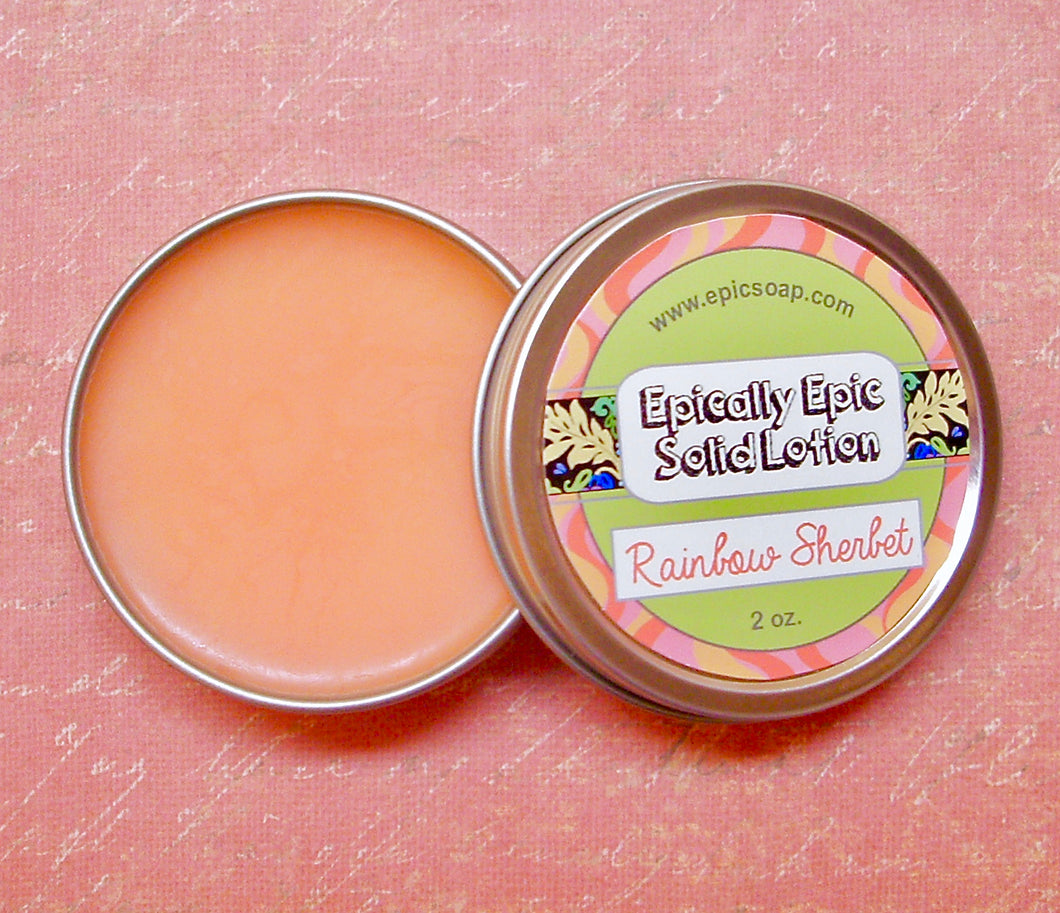 Rainbow Sherbet Many Purpose Solid Lotion - Limited Edition Summer Comforts Scent