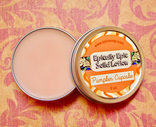 Pumpkin Cupcake Many Purpose Solid Lotion - Limited Edition Fall Collection Scent