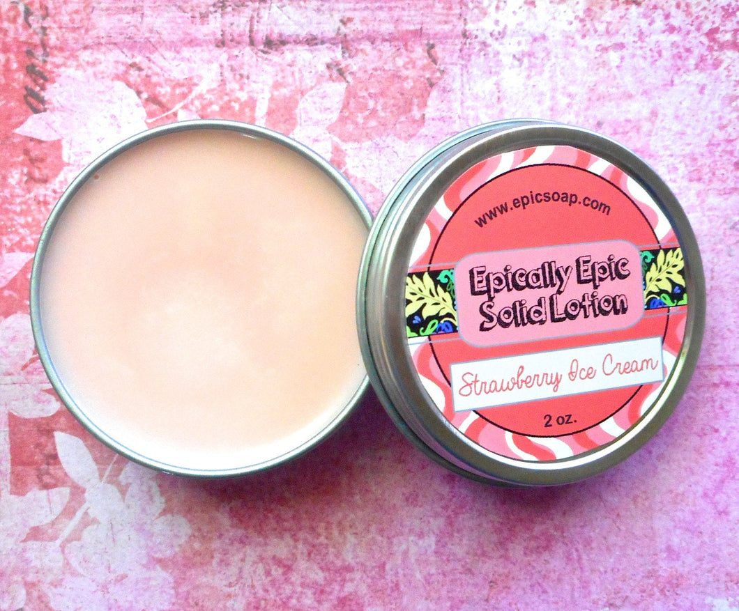 Strawberry Ice Cream Many Purpose Solid Lotion