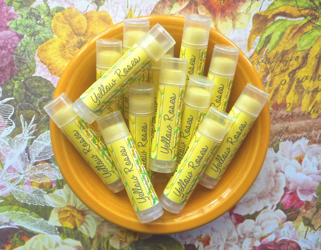 Yellow Roses Vegan Lip Balm