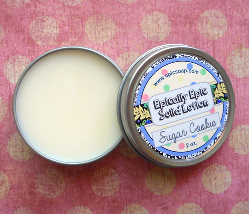 Sugar Cookie Many Purpose Solid Lotion - Limited Edition Winter Holidays Scent