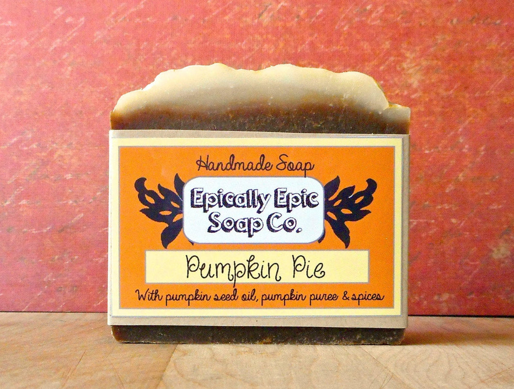 Pumpkin Pie Cold Process Soap - Vegan Handmade Soap