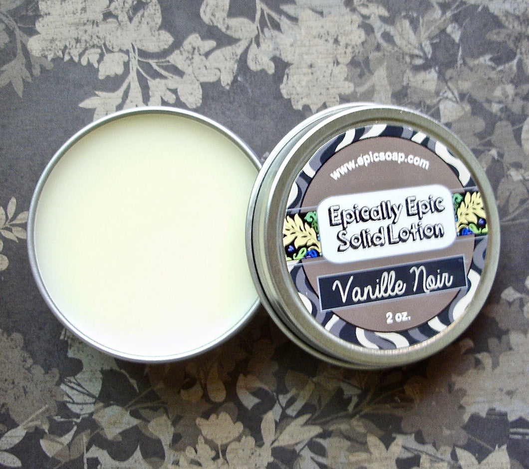 Vanille Noir Many Purpose Solid Lotion - Limited Edition Fall Collection Scent