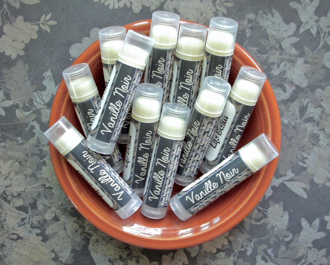 Vanille Noir Vegan Lip Balm - Limited Edition Fall Collection Flavor